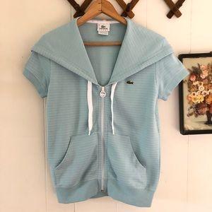 Lacoste • Zip Up Short Sleeve Hoodie